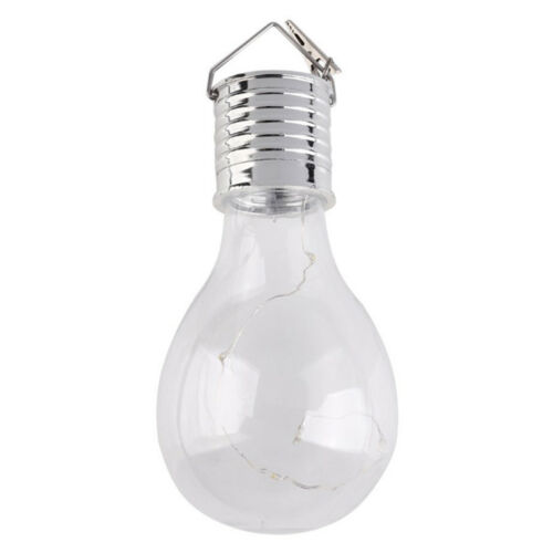 5 LED Waterproof Solar Rotatable Garden Camping Hanging Lamp Light Bulb Decor