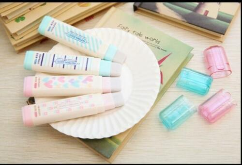 Fashion Students Pen Shape Eraser Rubber Stationery Kid Gift Toy Cute HA