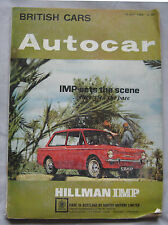 Autocar magazine 15/5/1964 featuring Singer Gazelle Series V road test