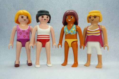 Playmobil J-40 City Life 4x  Figures Holiday Summer Beach Bundle Dollhouse