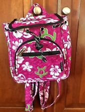 Hawaii Spirit Hawaiian Print Pink School Backpack Hiking Travel Shopping SMALL
