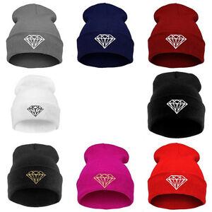 Men-Women-039-s-New-DIAMOND-pattern-Hip-Hop-Cap-Beanies-Winter-Cotton-Knit-Wool-Hats