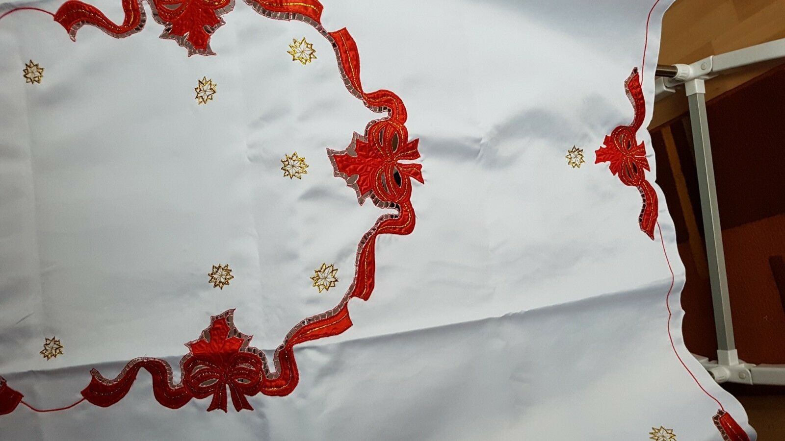 Weihnachtstischdecke+180 x 130 cm, rechteckig, +100 % Polyester,Lurex+NEU+TOP