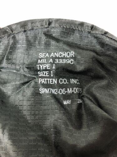 "Sea Anchor...Drift Sock...12"" Mil-A-3339C...Type 1...Size 1 Drogue"