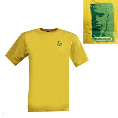 Nike Ronaldo 9 Short Sleeve Yellow Cotton Boys Tee Top T-Shirt 669459 703 EE48
