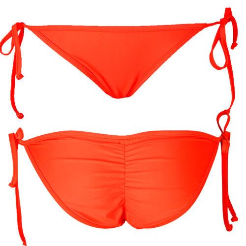 Women Swimwear Scrunch Brazilian Semi Thong Bikini Bottom Bathing Swimsuit Y369