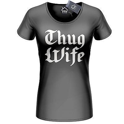 THUG WIFE T-shirt Top Fashion Swag Dope Hype Bride Wedding Wifey Life