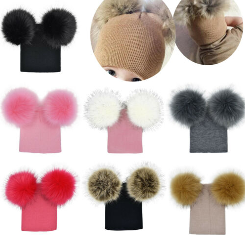 Toddler Infant Kids Baby Boy Girl Winter Warm Crochet Knit Hats Beanie Caps Gift