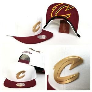b2f3613f579 Image is loading Mitchell-amp-Ness-Cleveland-Cavaliers-White-Burgundy-Metal-