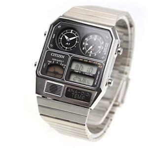 CITIZEN-ANA-DIGI-TEMP-Reproduction-Model-Watch-Silver-JG2101-78E-from-japan