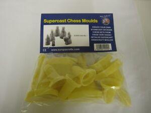9-x-SUPERCAST-REF-0004-LEWIS-1-CHESS-SET-LATEX-MOULDS-MOLDS-MOULDS