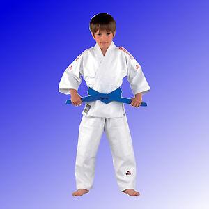 Judoanzug-Judo-Ju-Jutsu-Anzug-O-Goshi-Kinder-Erwachsene-weiss-DANRHO-Gr-80-200