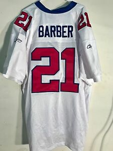 factory price 14448 256b3 Details about Reebok Authentic NFL Jersey NEW YORK Giants Tiki Barber White  sz 56