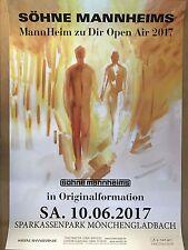 SÖHNE MANNHEIMS 2017 M'GLADBACH -- Tour Poster - Concert Poster