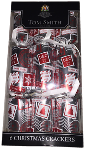 Tom-Smith-Silver-Red-034-Winter-Wishes-Dec-25-034-Christmas-Crackers-6-X-12-034