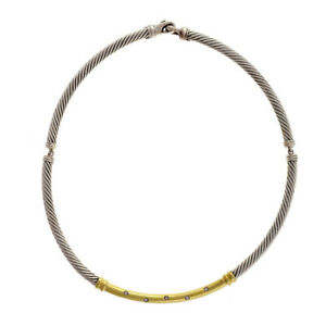 David-Yurman-Metro-Choker-Diamond-Necklace-Silver-14k-Gold