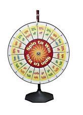 "36"" Spin to Win Clicker 20 Pocket Insert Pro Prize Wheel / Tradeshow Carnival"