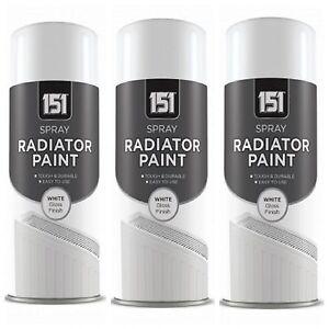 1 2 3 X White Gloss Spray Heat Resistant Enamel Paint
