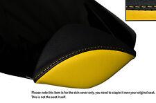 Negro Y Amarillo personalizado se adapta a Honda Cbr 1000 Rr 08-12 Fireblade Cuero almohadilla cubierta