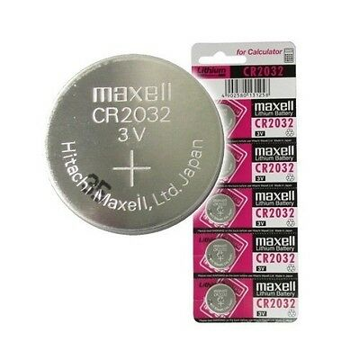 10 x GENUINE MAXELL CR2032 2032 3V LITHIUM BUTTON / COIN CELLS BATTERIES UK SHIP
