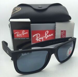 e5e9df0f6f Polarized RAY-BAN Sunglasses JUSTIN RB 4165 622 2V Black Rubber w ...