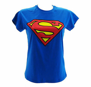 La imagen se está cargando camiseta-Superman-Azul-Real-Mujer e5489ca5918