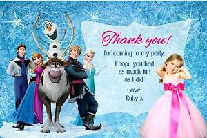 Personalised Frozen Birthday Thank You cards x 10 with GLITTER FINISH - Bexleyheath, Kent, United Kingdom - Personalised Frozen Birthday Thank You cards x 10 with GLITTER FINISH - Bexleyheath, Kent, United Kingdom