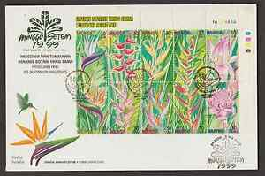F246-MALAYSIA-1999-STAMP-WEEK-HELICONIA-FLOWER-PLANT-FDC
