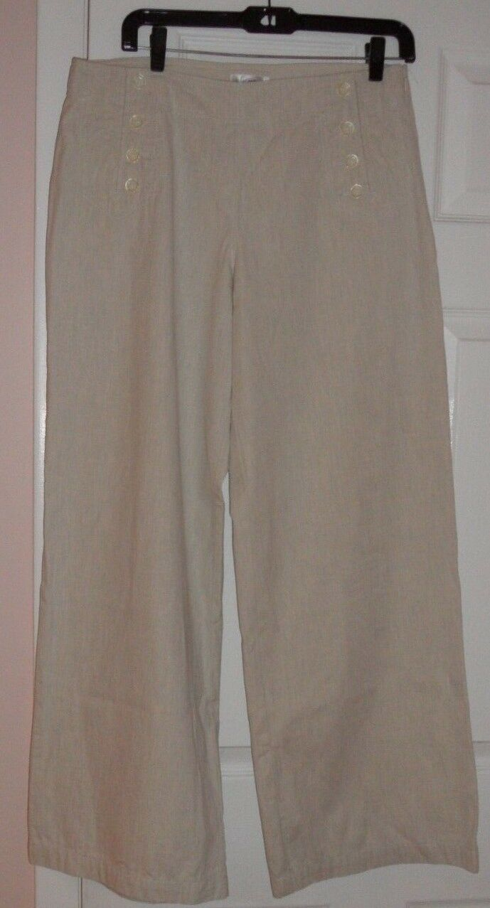ISAAC MIZRAHI FOR TARGET WIDE ELEGANT PANTS, 100% COTTON, PERFECT FOR ALL OCCASI