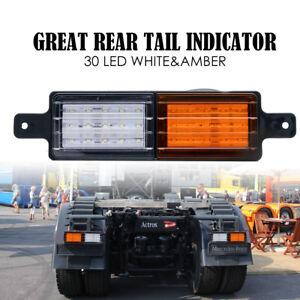 2x-LED-FRONT-INDICATOR-PARKER-CLEAR-AMBER-LIGHT-BULLBAR-4X4-4WD-LAMP-12V-24V