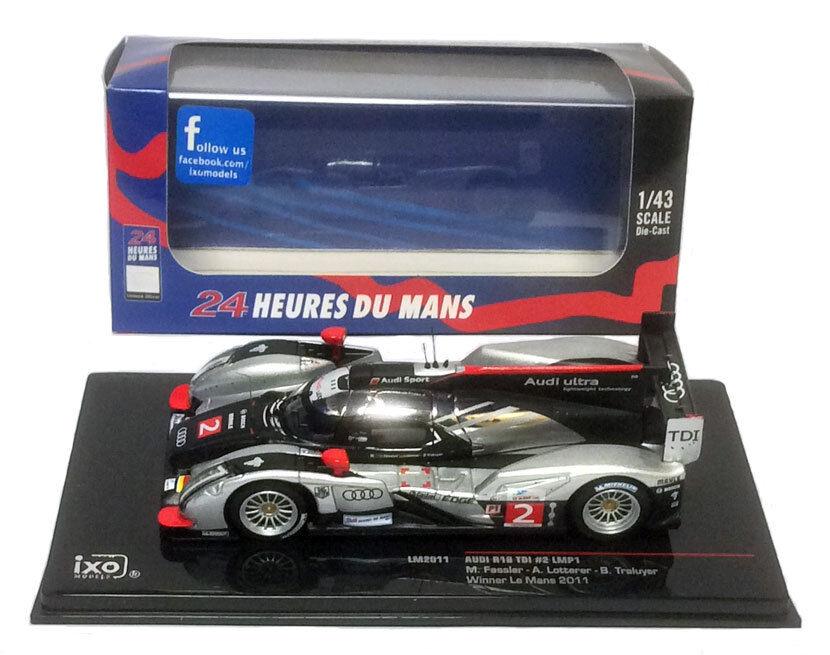 IXO lm2011 AUDI r18 TDI  2 Winner Le Mans 2011-FASSLER Lotterer TRELUYER