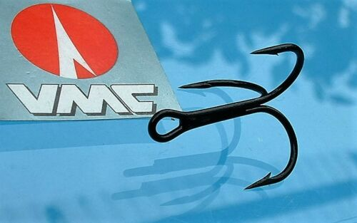 10 VMC 8650bk Triplets Size 6 top hooks for Pike Perch Predator Stinger /& vorfächer