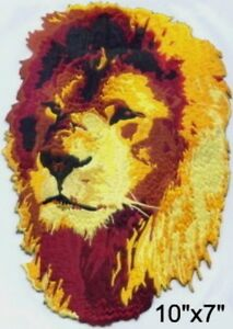 Large-Lion-Head-Motorcycle-Biker-Embroidered-Patch-10-034-x7-034