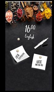 Details zu Memoboard Dark Spoons L Styler Glas Magnettafel Magnetwand Küche  Gewürze 30x60cm