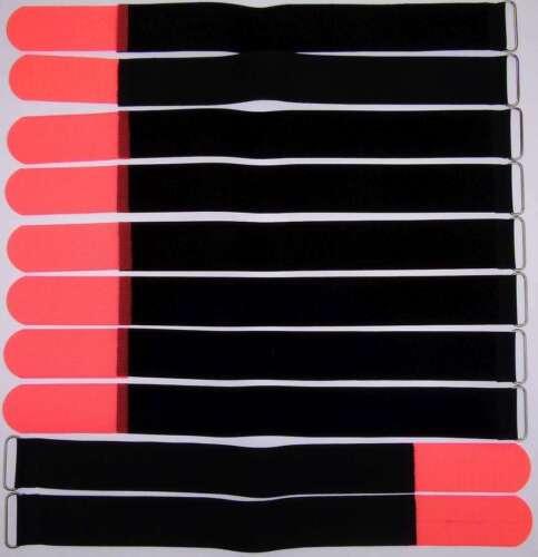 50 Kabelbinder Klettverschluss 50 cm x 50 mm blau Klettband Klettkabelbinder Öse