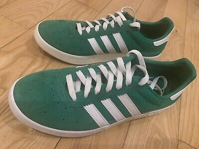 Adidas Munchen UK10 Trimm Trab verdebianco eccellente Retrò Casual Terrace   eBay