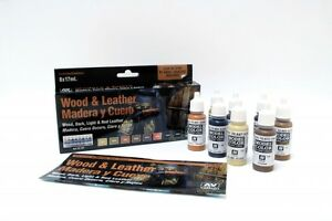 Wood-amp-Leather-Set-8-Paints-for-Models-amp-Hobby-Vallejo-70182