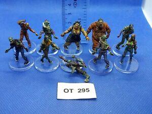 RPG-Rol-Modern-Apocalypse-Zombis-Variados-de-Zombicide-x10-Pintados-OT295