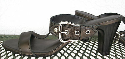 """Talbots BRONZE Slides~3"""" Heels~7.5 AA~ADJUSTABLE WIDTH~Other Colors Available"""