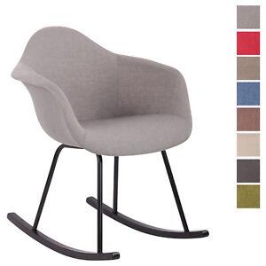 chaise bascule rembourree merry fauteuil bascule en tissu - Chaise Scandinave Rembourree