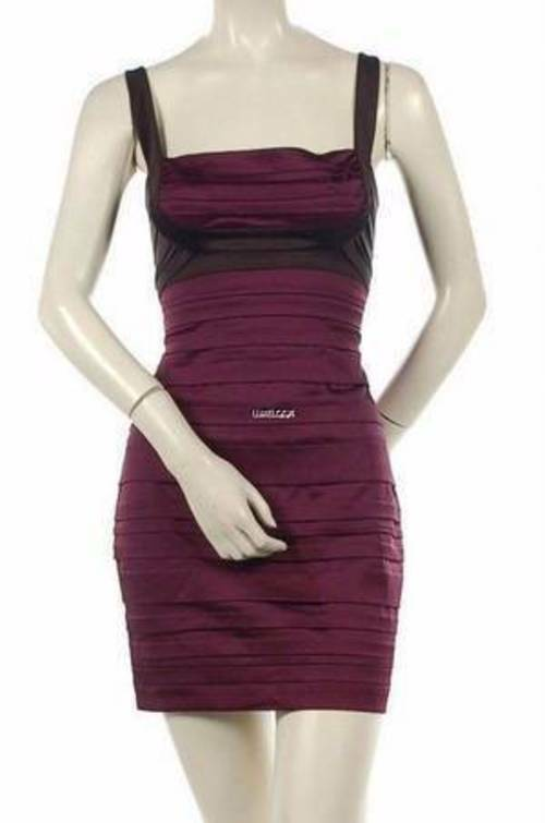 af80a0e9b NEW BCBG MAXAZRIA STRETCH SATIN PANELED DRESS 6P PARTY npowsf891 ...