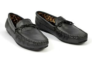 mens loafers moccasins leather black shoes handmade boots