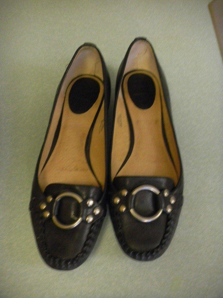 vanno a ruba Frye 'Ruby Ring' nero Leather Slip On Loafer Flat Dimensione Dimensione Dimensione 8.5 M  alto sconto
