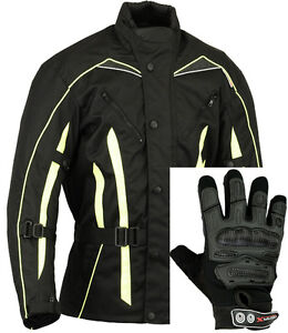 hivis moto protection veste gants moto ebay. Black Bedroom Furniture Sets. Home Design Ideas