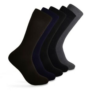 Men-039-s-Crew-Cotton-Socks-for-Every-Occasion-Work-Size-10-13-Lot-5-Pairs