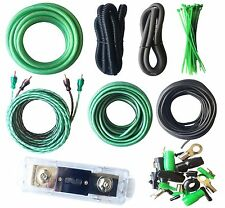 4 Gauge Amp Kit True AWG Amplifier Install Wiring 4 Ga Complete Cable, 3500W