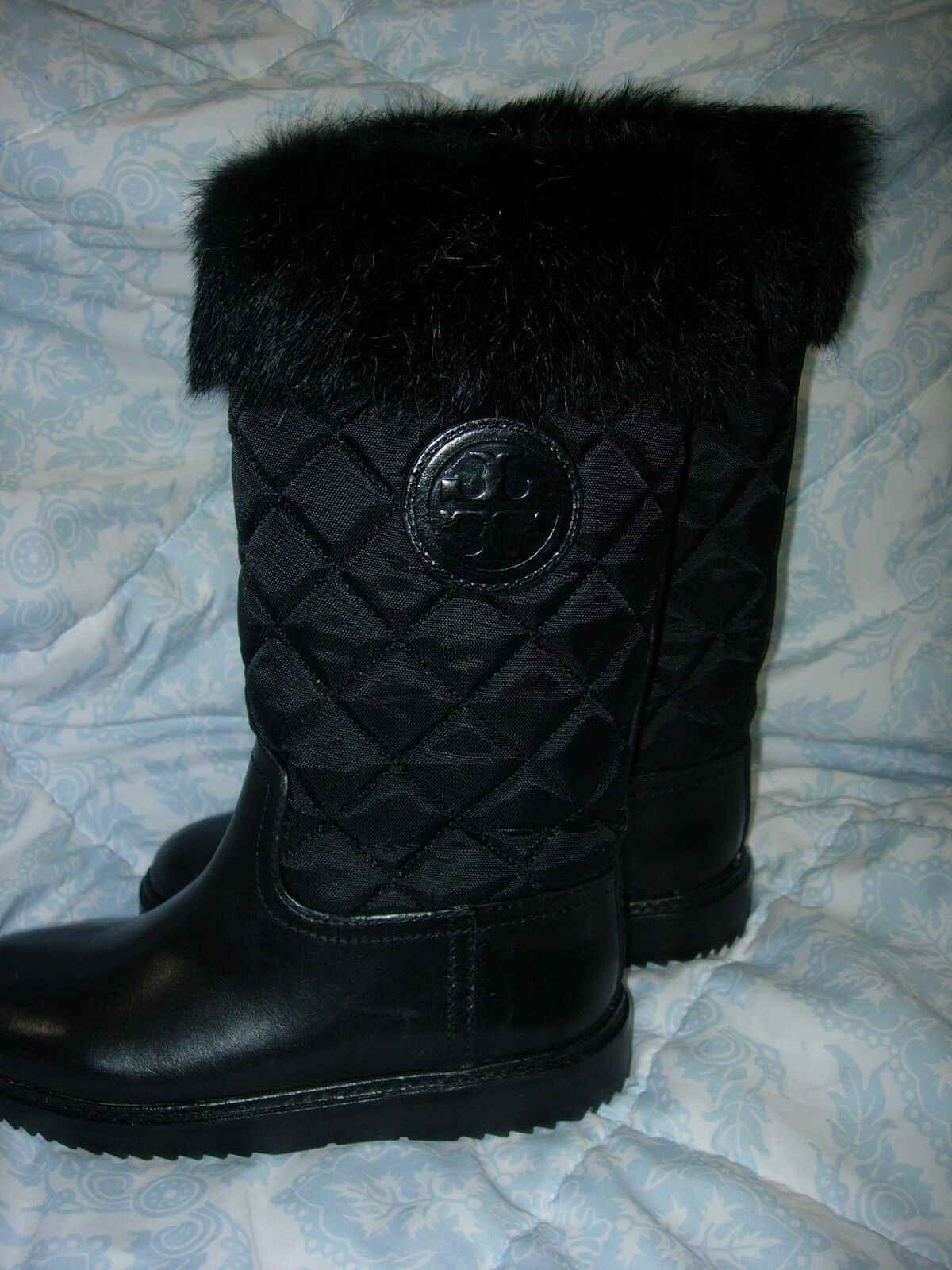 Tory Burch Joey Women US 5 Black Winter Boot Blemish 1044 New with Tags