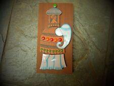 Vintage Hornsea muramic Placa De Elefante-John Clappison-algunos daños
