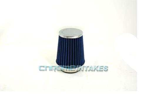 """BLUE 2003 UNIVERSAL 76mm 3/"""" INCHES SMALL AIR INTAKE FILTER"""