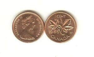 Image Is Loading 1965 Canada Small Cent Choice BU Scarcer LARGE